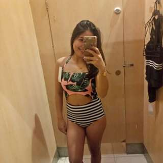 One piece Leaf print Swimwear Bought at Landmark for 1k