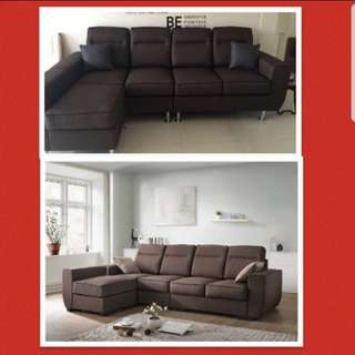 High Back 4 Seater with Arm Chair Spring Coil Seating
