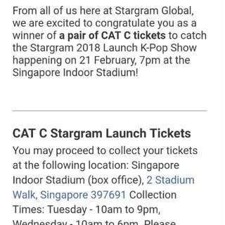 Stargram tix