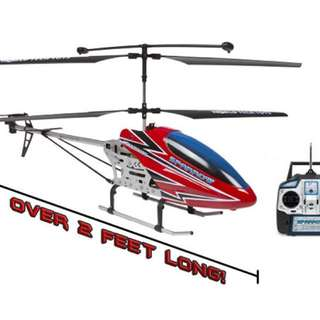 Metal sparrow 3.5CH rc helicopter ( over 2 feet long )