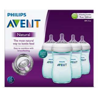 Brand New Avent Natural Bottle 260ml - Teal color