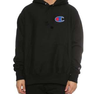 100% authentic champion big c reverse weave hoodie black