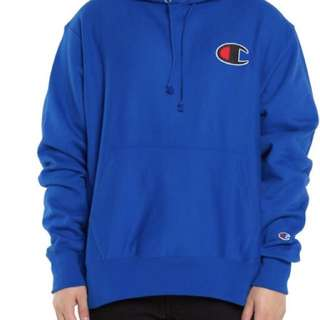 100% Authentic big c hoodie reverse weave blue size s