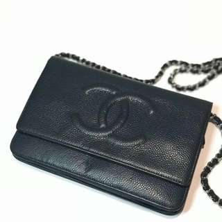 Chanel Wallet on Chain Leather Crossbody Bag