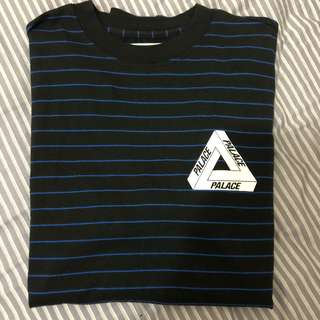 Palace skateboards skateboard tee 黑藍間條