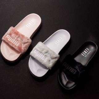 PUMA FENTY X Rihanna Leadcat Fur Slide Women's Sandals