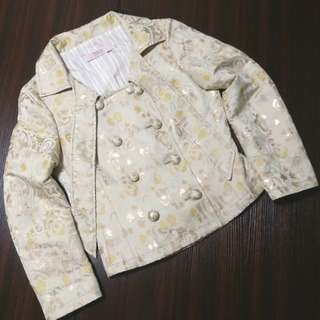 HK🛫Auth and 95%new Red valentino brocade print jacket