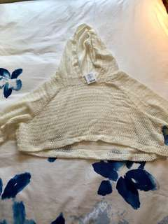 Urban cropped ivory sweater
