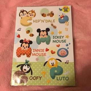 Disney schedule book 2018 行事曆
