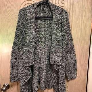 [全新] 黑白混色針織外套