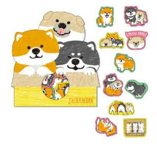 Last 1 Instock! (Mix & Match)*Mind Wave Japan - Shibanban Inu Stickers Pack (Trio)