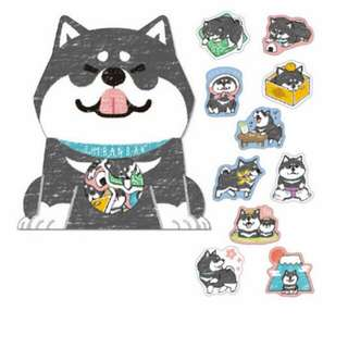 Last 1 Instock! (Mix & Match)*Mind Wave Japan - Shibanban Inu Stickers Pack (Kuro)