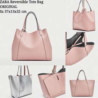 zara revisible tote bag