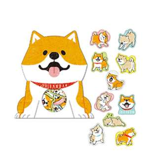 Last 2 Instock! (Mix & Match)*Mind Wave Japan - Shibanban Inu Stickers Pack (Orange)