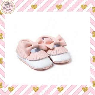 ⏰Limited Time Sale! Baby Pink Bow Moccasins