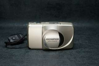 Olympus mju zoom 140 point and shoot 135 film camera with remote tested working菲林傻瓜機