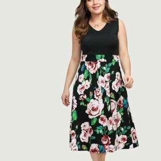 Floral Plussize Dress