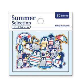 Only 1 Instock! (Mix & Match)*Mind Wave Japan -  Summer Selection Penguin Stickers Pack