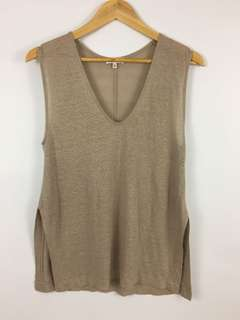 Babaton with linen sleeveless top women's size XXS