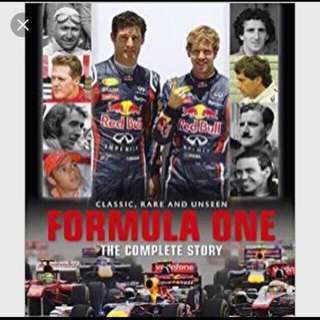 New and Sealed Hardcover Book,  Formula One The Complete Story, Classic Rare and Unseen 336 pages