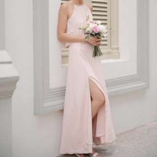thread theory from this moment dress (nude pink)