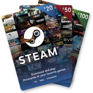 Steam Wallet Digital Code [SG/US]