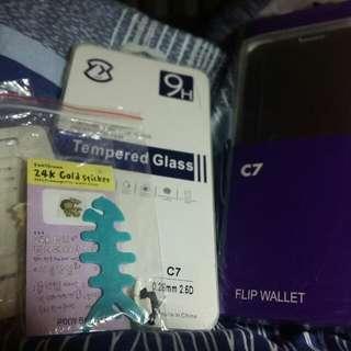 Samsung C7手機殼&玻璃貼