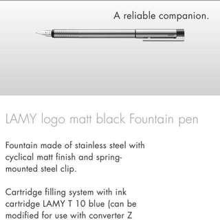 Lamy fountain pen
