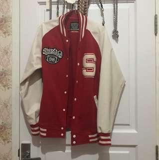Baseball leather jacket / jaket kulit sharksco