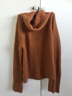 Burnt orange turtle neck