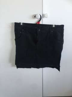 Pretty little thing black denim skirt