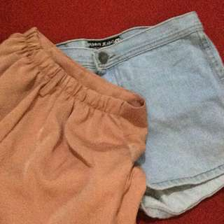 TAKE ALL // Shorts // High Waisted Denim // Peach Shorts