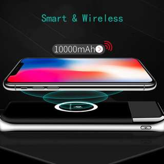 10000mAh Dual Output Wireless Charging PowerBank