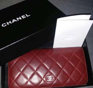 Chanel Long Wallet 100% authentic preloverd