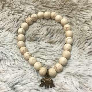 Brown & white marble bracelet