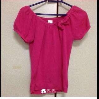 $39 Sweet Hot Pink Ribbon Blouse ( Brand New )