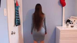 Blue toned long sleeve dress
