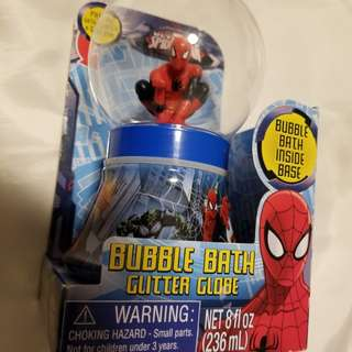 Spiderman bunblebath glitter globe