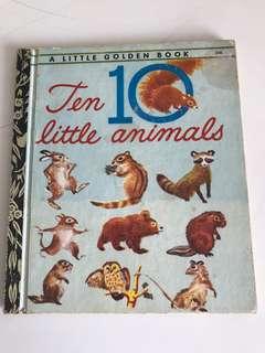 Ten Little Animals - Little Golden Book