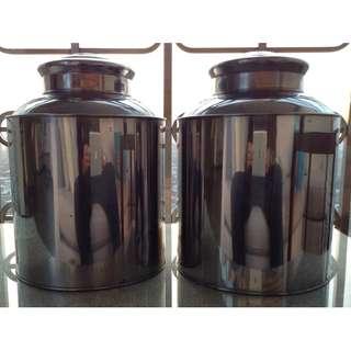 Vintage Metal Tea Canisters