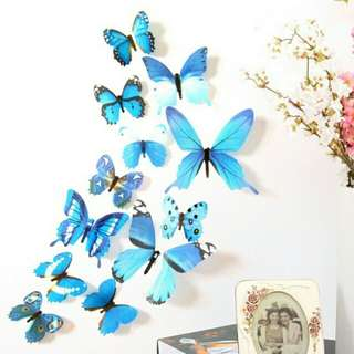 3 Dozen Decal Wall Stickers-3D Butterflies