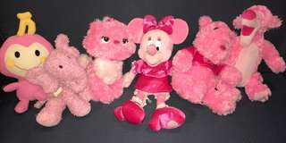 Pink stuffed animals