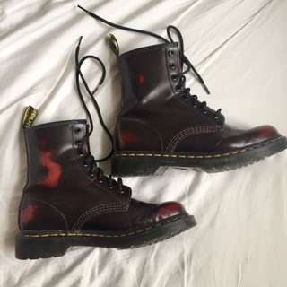 Dark Cherry Doc Martens, size 7 W