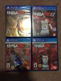 PlayStation 4 NBA 2k14, NBA 2k15, 2k16, 2k17 bundle deal