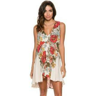 Free People White Floral Dress