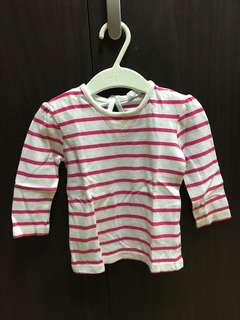 F & F long sleeves pink and white stripes used once
