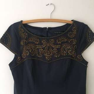 Forever New embellished navy bodycon dress