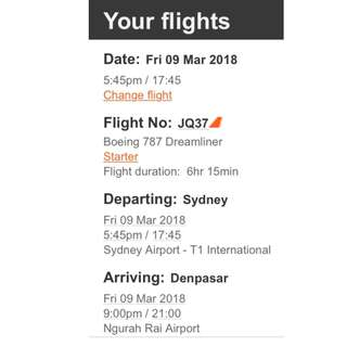 2 x Return Flights SYD <--> BALI