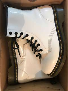 White and Black Dr. Martens