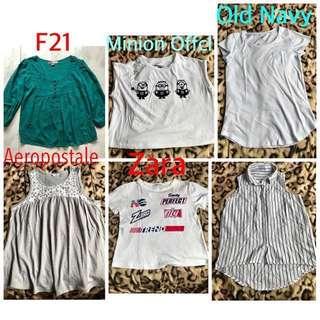 Branded shirt zara h&m old navy S-M P60 each